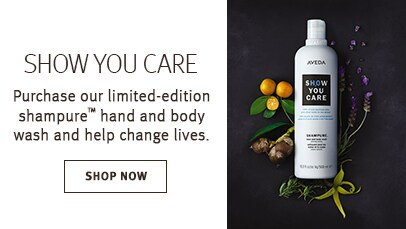 Click shop now button to shop limited edition shampure hand and body wash to support clean water